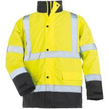 ROADWAY FLUO Yellow bélelt kabát