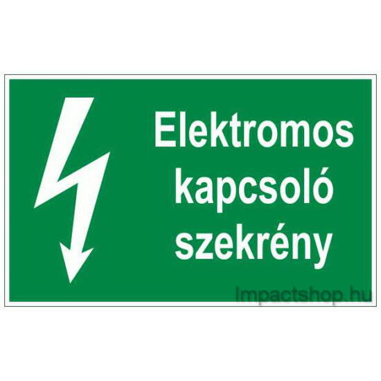 Elektromos kapcsoló szekrény  (100x60 mm matrica)