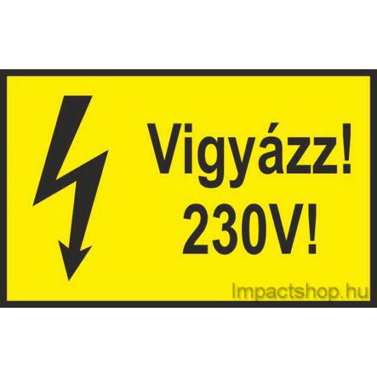 Vigyázz 230V (100x60 mm matrica)
