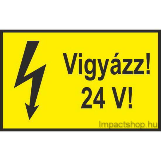 Vigyázz 24V (100x60 mm matrica)