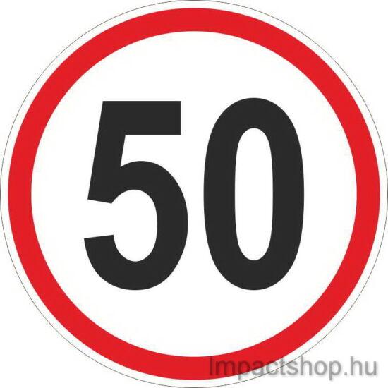 50 km sebességkorlátozás (200x200 mm matrica)
