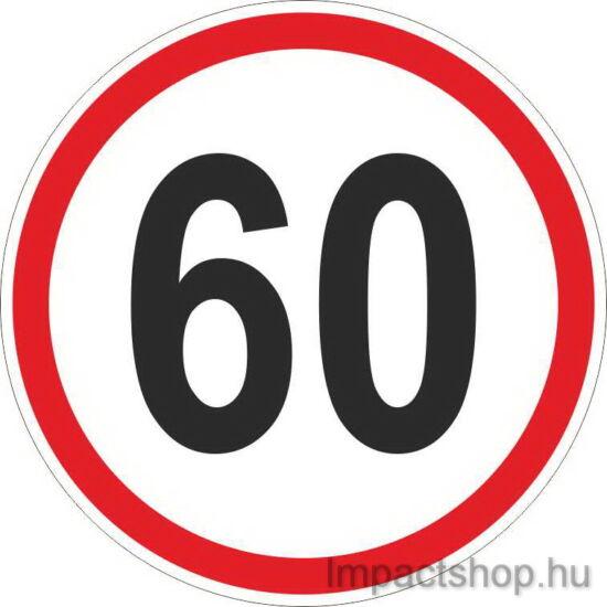 60 km sebességkorlátozás (200x200 mm matrica)