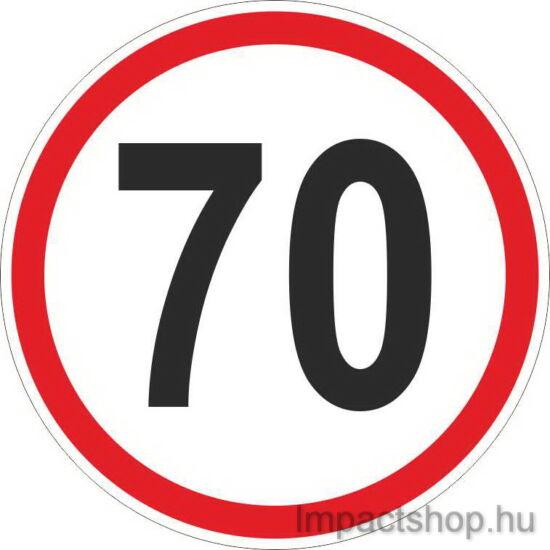 70 km sebességkorlátozás (200x200 mm matrica)