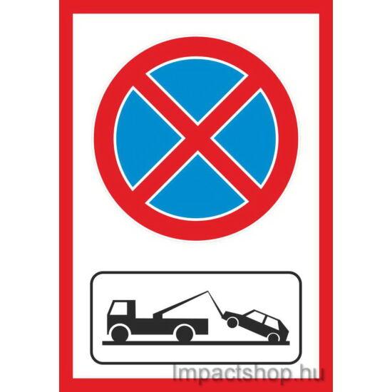 Megállni tilos gépjármű elszállítás (210x297 mm matrica)
