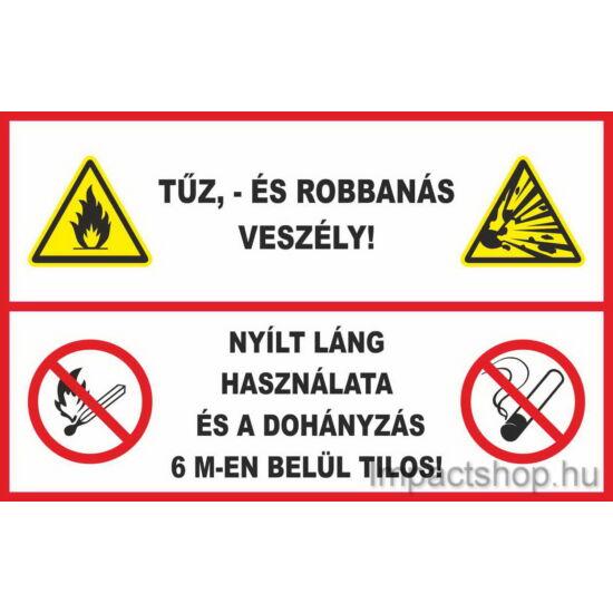 6 méteren belül tilos a dohányzás (297x210 mm matrica)