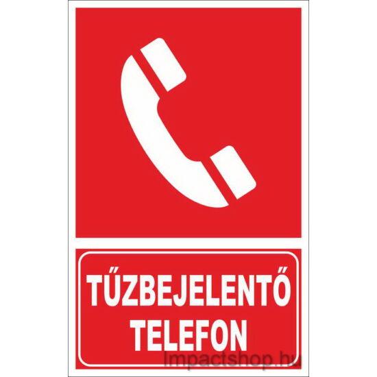 Tűzbejelentő telefon (160x250 mm tábla)