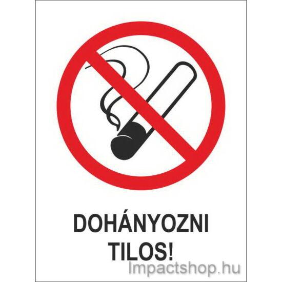 Dohányozni tilos (160x250 mm tábla)