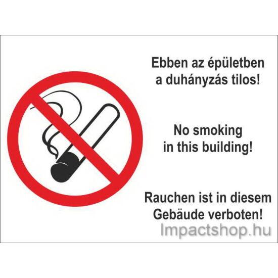 Ebben az épületben tilos a dohányzás (250x160 mm matrica)