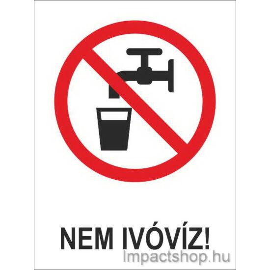 Nem ivóvíz (160x250 mm matrica)