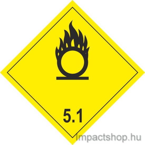 Gyújtó hatású oxidáló anyagok (100x100 mm matrica)