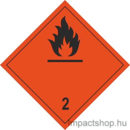 Gyúlékony gázok fekete felirattal (100x100 mm matrica)