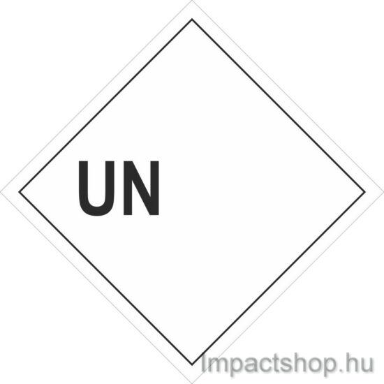 Korlátozott mennyiség UN (300x300 mm matrica)