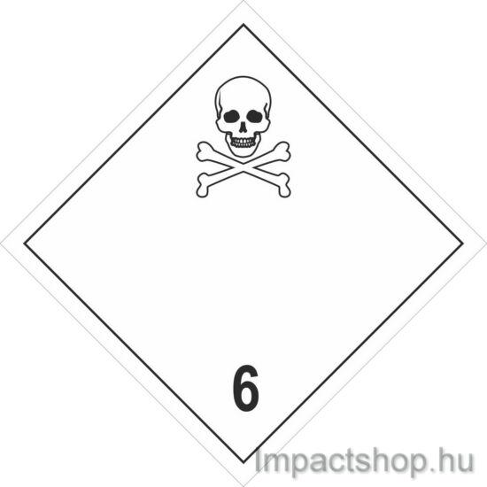 Mérgező anyagok (300x300 mm matrica)