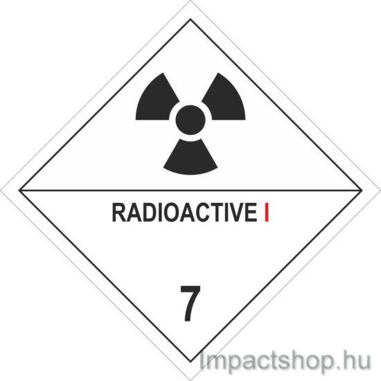 Radioaktív anyagok I (100x100 mm matrica)