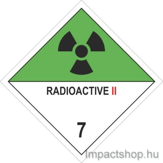 Radioaktív anyagok II (100x100 mm matrica)