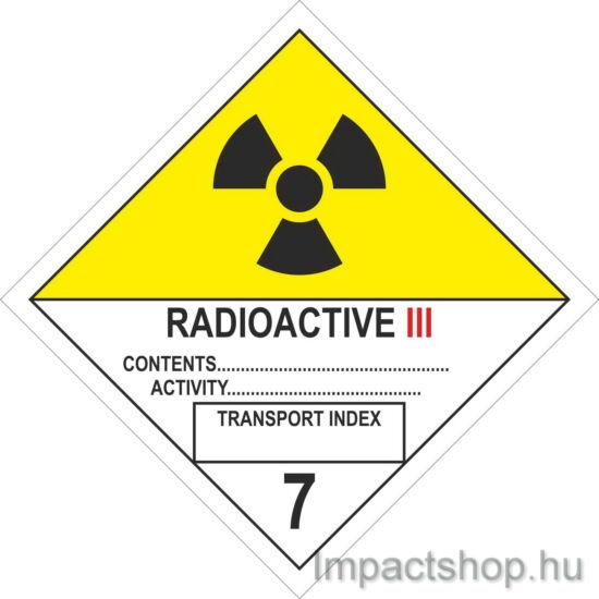 Radioaktív anyagok III (300x300 mm matrica)