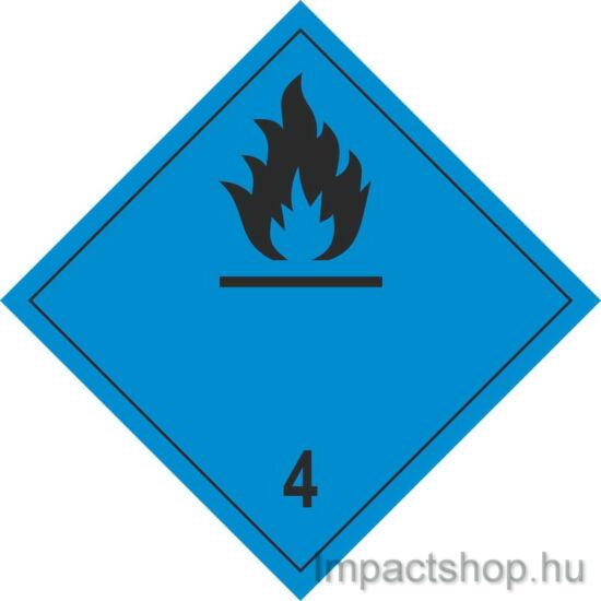 Vízzel érintkezve gyúlékony gázokat fejlesztő anyagok fekete (300x300 mm matrica)