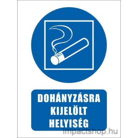 Dohányzásra kijelölt helyiség (160x250 mm tábla)