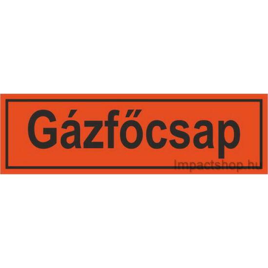 Gázfőcsap (200x70 mm matrica)