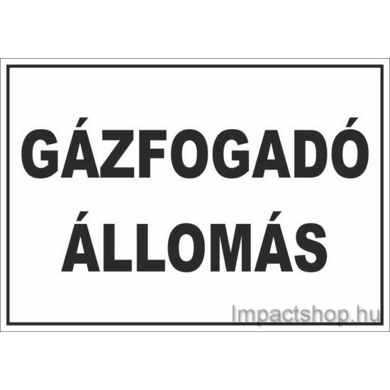 Gázfogadó állomás (245x175 mm tábla)