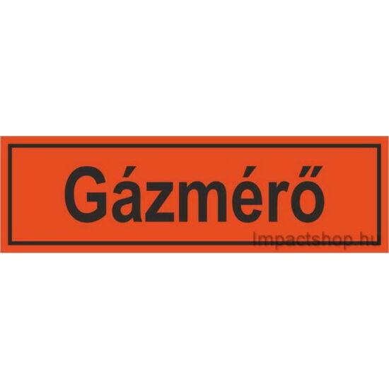 Gázmérő (200x70 mm matrica)