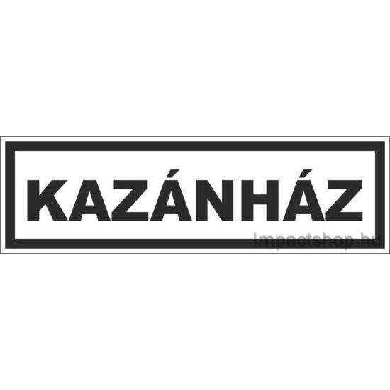 Kazánház (290x100 mm matrica)