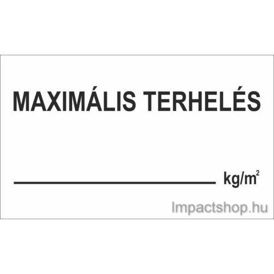 Maximális terhelés (200x150 mm matrica)