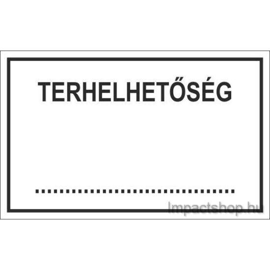 Terhelhetőség (245x175 mm tábla)