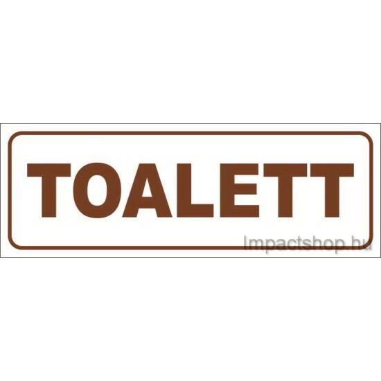 Toalett (200x70 mm matrica)