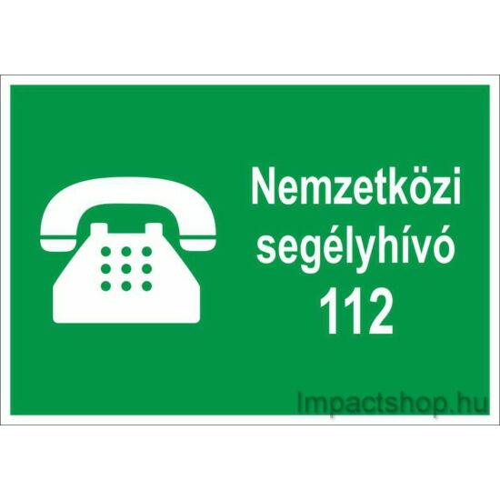 Nemzetközi segélyhívó (250x160 mm tábla)