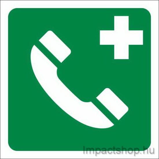 Vészbejelentő telefon (160x160 mm matrica)