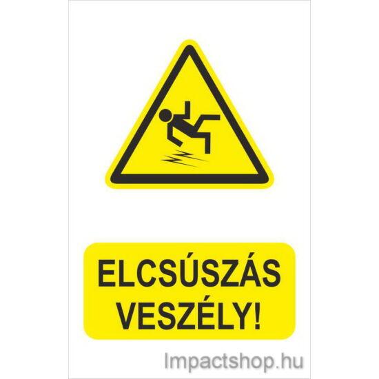 Elcsúszás veszély (160x250 mm tábla)
