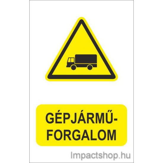 Gépjármű forgalom (160x250 mm tábla)