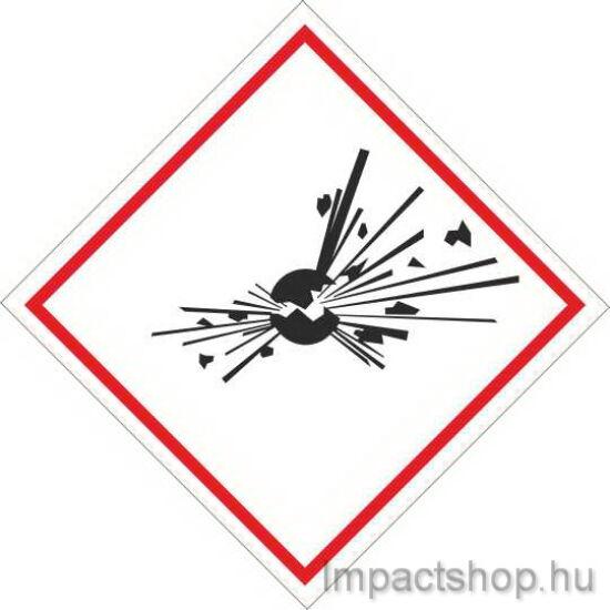 Robbanóanyag tűz és robbanásveszély (100x100 mm tábla)