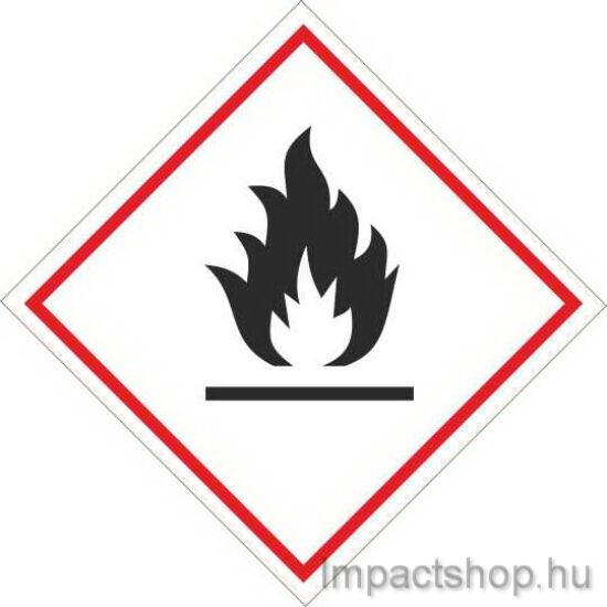 Tűzveszélyes (100x100 mm tábla)