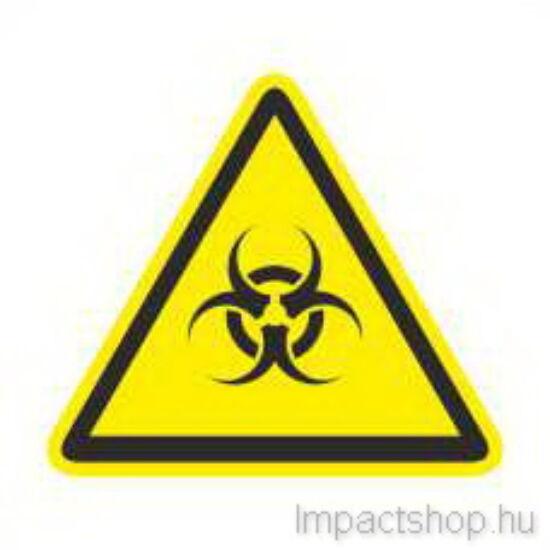 Biológiai veszély (100x100 mm matrica)