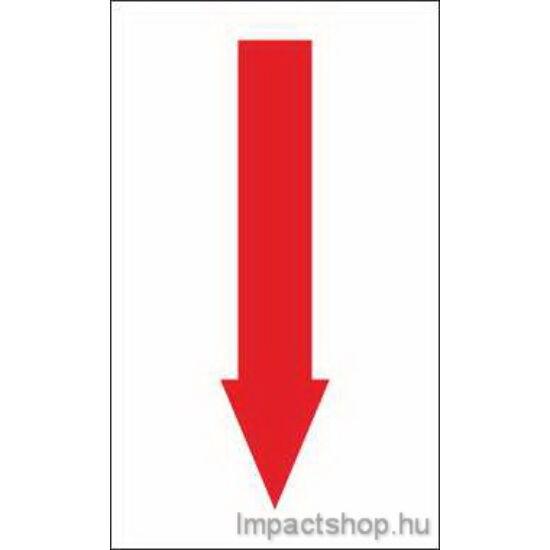 Piros nyíl (100x200 mm matrica)