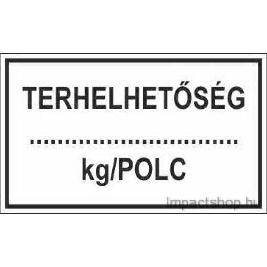 Terhelhetőség kg polc (200x100 mm matrica)