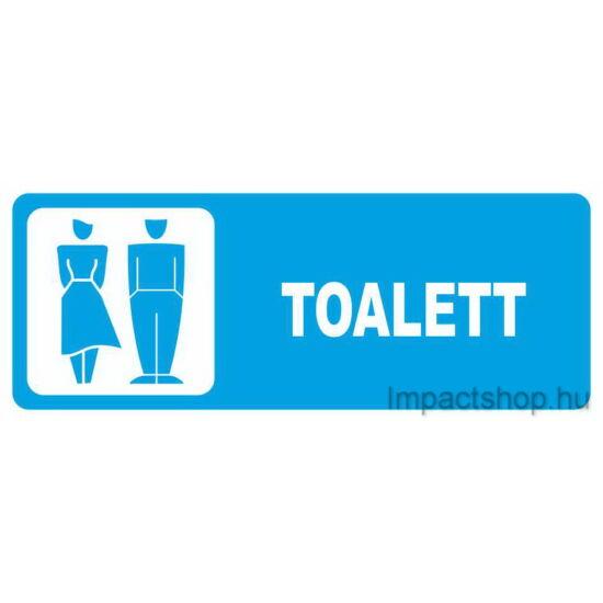 Toalett (250x100 mm matrica)