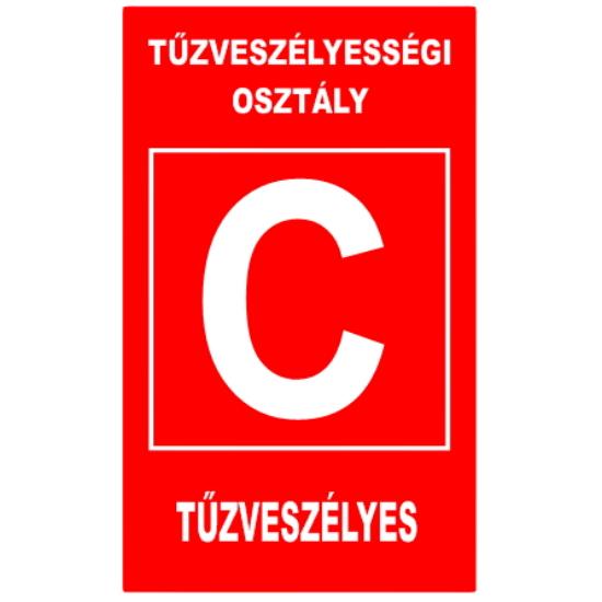 """""""C"""" tűzveszélyességi osztály (160x250 mm matrica)"""