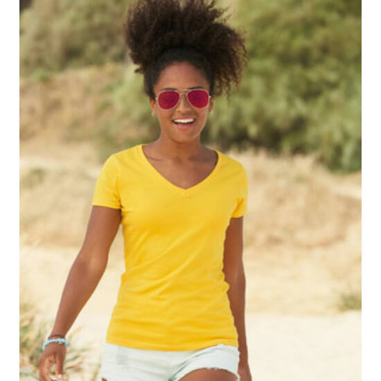 Fruit of the Loom LADY-FIT VALUEWEIGHT V-NECK T  póló